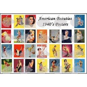Toro 48P01 1/48 American Beauties 1950'S Posters