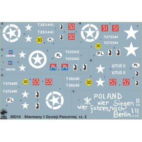 ToRo 1:35 Decals Polish Shermans / 1st Armored Division 1944 - 1945 pt.2