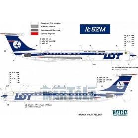 MARTOLA 144D001 Ił-62M KALKOMANIA PLL LOT