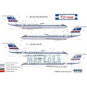Martola 1:144 Kalkomania do Tupolev Tu-134A