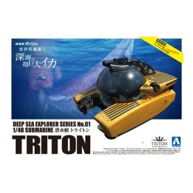Aoshima 00960 1/48 Deep Sea Triton Submarine 3300
