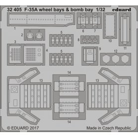 Eduard 1:32 F-35A wheel bays &amp bomb bays  dla Italeri [brak zdjęcia]