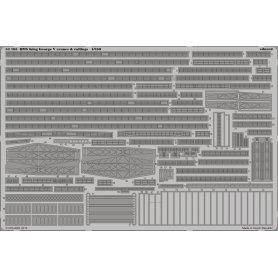 HMS King George V cranes &amp railings  1/350 TAMIYA