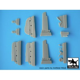 Black Dog Focke-Wulf FW 190 A detail set for Eduard 1/48, 13 resin parts