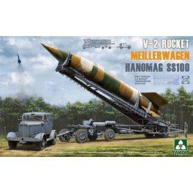 Takom 2030 V-2 Rocket Transporter + Hanomag