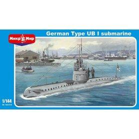 Mikromir 1:144 Niemiecka łódź podwodna UB-1