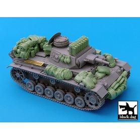 Black Dog Pz.Kpfw.III Ausf.N accessories set for Dragon