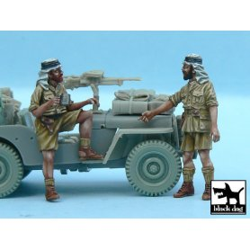 Black Dog British SAS Jeep Crew Afrika (2 figures) for Tamiya kits