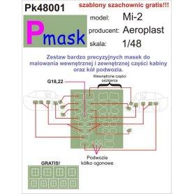 PMASK Pk48001 MI-2 AEROPLAST 1/48