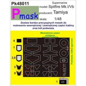 Pmask Pk48011 Supermarine Spitfire MkI/V - Tamiya