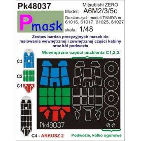 PMASK Pk48037 A6M ZERO/RUFE TAMIYA