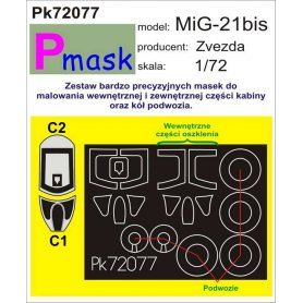 PMASK Pk72077 Mig-21bis - Zvezda