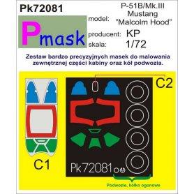 """PMASK Pk72081 P-51B/III """"Malcolm hood"""" - KP"""