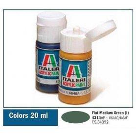 Italeri 4314 Akryl Flat Med. Green