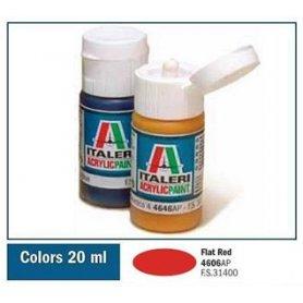 Italeri 4606 Akryl Flat Red | farba akrylowa |