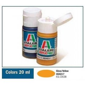 Italeri 4642 Akryl Gloss Yellow | farba akrylowa |