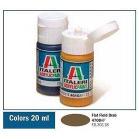 Italeri 4708 AKRYL FLAT FIELD DRAB | farba akrylowa |