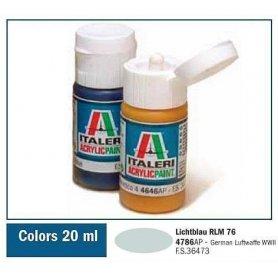 Italeri 4786 Akryl Lichtblau Rlm 76