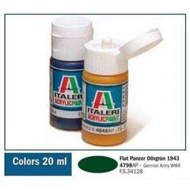 Italeri 4798 Akryl Pz. Olivgrun 43 | farba akrylowa |