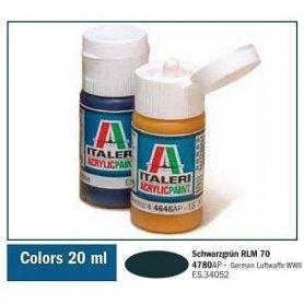 Italeri 4780 Akryl Schwarzgrun Rlm | farba akrylowa |