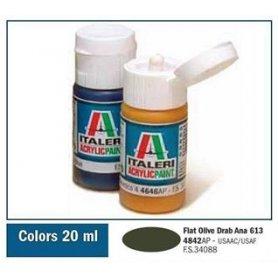 Italeri 4842 Akryl Olive Drab 613 | farba akrylowa |