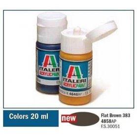 Italeri 4858 Akryl - Flat Brown 383 | farba akrylowa |