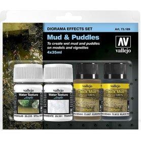 Vallejo 73189 Zestaw diorama - Mud & Puddles
