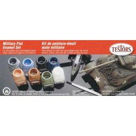 Testors 9131 Military Flats Paint Set