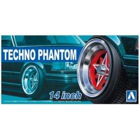 Aoshima 05324 1/24 Felgi+Opony Techno-Phantom 14