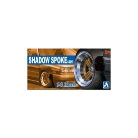 Aoshima 05322 1/24 Felgi+Opony Shadow-Spoke(4H)