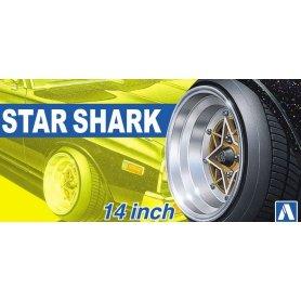 Aoshima 05258 1/24 Felgi + Opony Star Shark 14inch