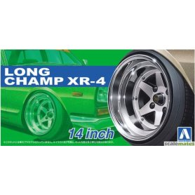Aoshima 05257 1/24 Felgi + Opony Long Champ XR-4