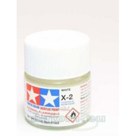 Tamiya X-2 Acrylic paint WHITE GLOSS - 10ml
