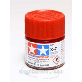 Tamiya X-7 Acrylic paint RED GLOSS - 10ml