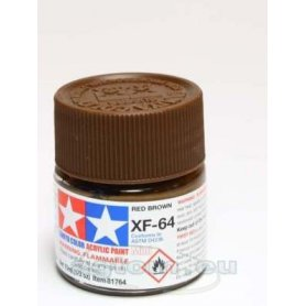 Tamiya XF-64 Farba akrylowa RED BROWN - 10ml