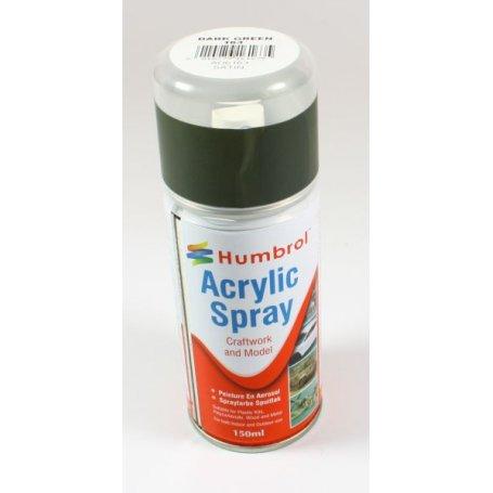 Farba w sprayu Humbrol 163 Dark Green Satin