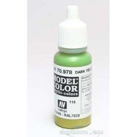 Vallejo Model Color 116. Dark Yellow 70978 / RAL 7028