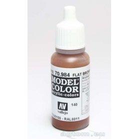 VALLEJO Model Color 140. Flat Brown 70984