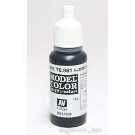 VALLEJO Model Color 170. Glossy Black 70861