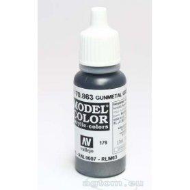 VALLEJO Model Color 179. Gunmetal Grey Mettalic 70863