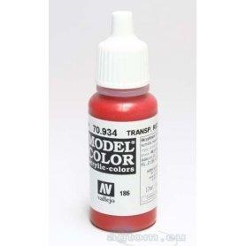VALLEJO Model Color 186. Red Transparent 70934