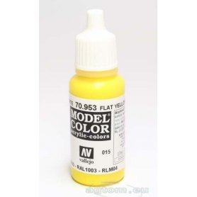 VALLEJO Model Color 15. Flat Yellow 70953