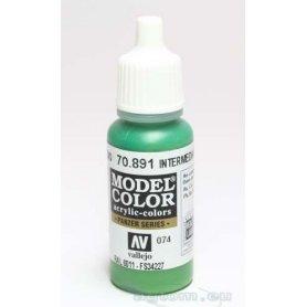 VALLEJO Model Color 74. Intermediate Green 70891