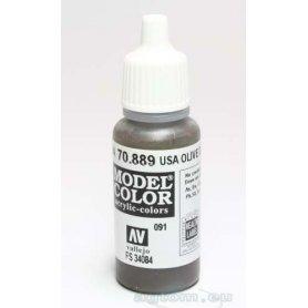 VALLEJO Model Color 91. USA Olive Drab 70889