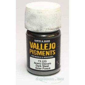 Pigment Vallejo 73123 Dark Steel (Mettalic)