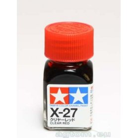 Tamiya Enamel X-27 Clear Red