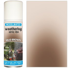 Modelmates Weathering Spray Dye - Mud Brown