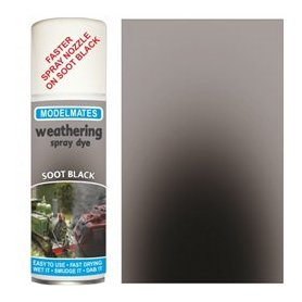 Modelmates Weathering Spray Dye – Soot Black