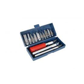 Zestaw nożyków modelarskich z ostrzami 13el.