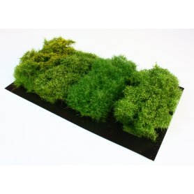 BSM High bushes - four hedges for 1:35 scale
